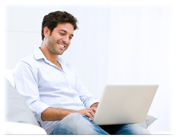 Man enjoying fast Dotto-One Internet speed